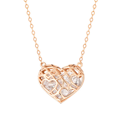 14k / 18k Prison Heart Necklace