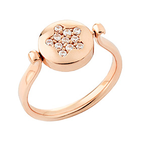 14K / 18K Love Star double sided initial ring