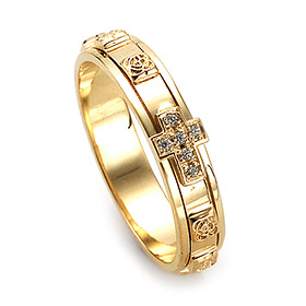14K / 18K R212 Rotating Rosary Ring