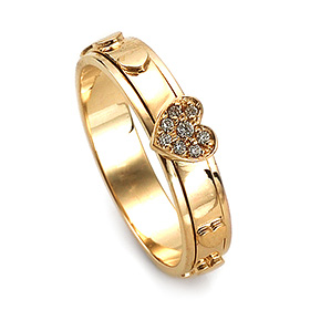 14K / 18K R216 Rotating Rosary Ring