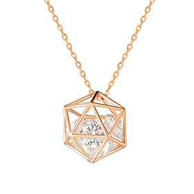 14k / 18k Prison Cube [large] Necklace