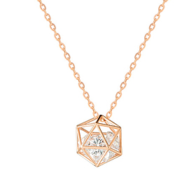 14k / 18k Prison Cube [small] Necklace