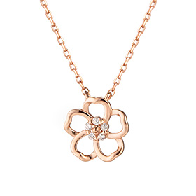 14K Lotus Flower Necklace