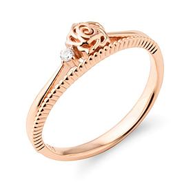 14K / 18K rose crown ring