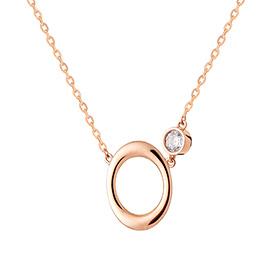 14k / 18k zero circle Necklace (overnightdelivery)