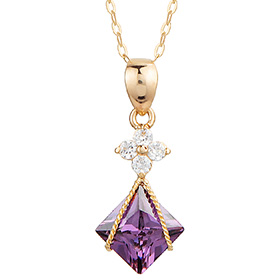 14k / 18k Amethyst Sensitive Necklace