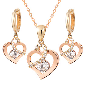 14K / 18K Lovely set [Necklace + earring]