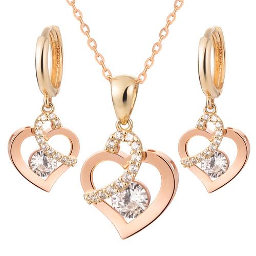 14K / 18K Lovely set [Necklace + earring]