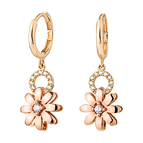 14K / 18K Dandelion earring (overnightdelivery)