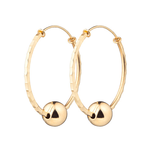 14K / 18K hoop volume ring earrings [overnightdelivery]