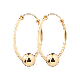 14K / 18K hoop volume earring [overnightdelivery] + shopping bag present