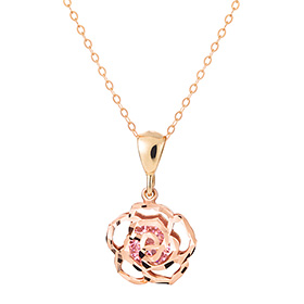 14k / 18k Wild Rose Pink Necklace