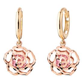 14K / 18K Wild Rose Pink earring