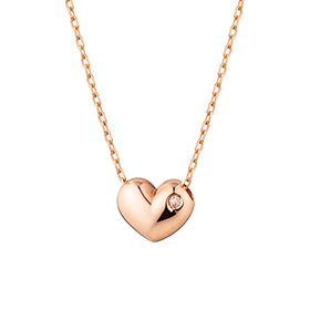 14k / 18k velvet heart diamond Necklace