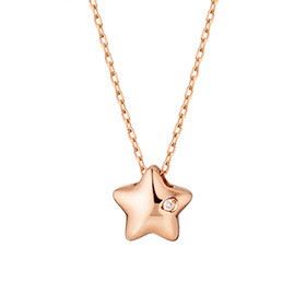 14k / 18k velvet star diamond Necklace