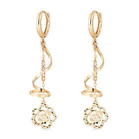 14K / 18K Rose Peco earring