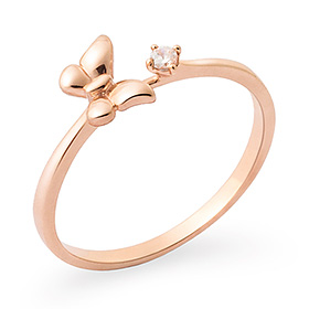 14K / 18K plump butterfly ring