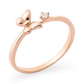 14K / 18K plump butterfly ring