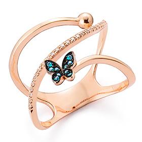 14K / 18K Moonlight Butterfly Ring