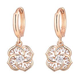 14K Rose Rear earring