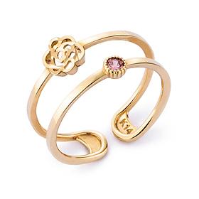 14K / 18K rose violet ring