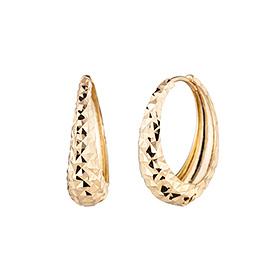 14k / 18k ring marbling (medium) earring