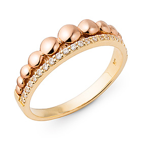 14K / 18K bubble tiara ring