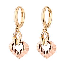 14K / 18K Love butterfly earring