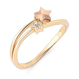 14K / 18K double star ring