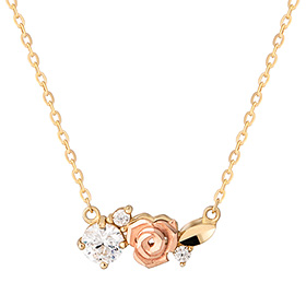 14K / 18K Bird Rose Necklace