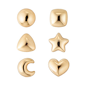 14K sugar 6 bell-shaped earrings [overnightdelivery]