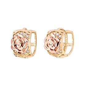 14K / 18K wich rose earring