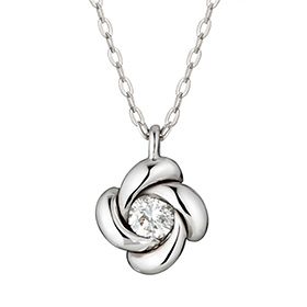 "<b><font color=""b400b0"" >[Part 1 Contemporary Emotion]</font></b> <br> 14K / 18K Winter Night Part 1 Diamond Necklace"