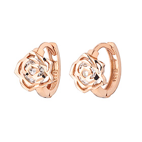14K / 18K Rose Day earring [overnight delivery]