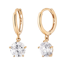 14K / 18K Miracle Shine earring [overnightdelivery]