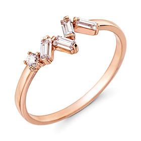 14K / 18K cube quartz ring