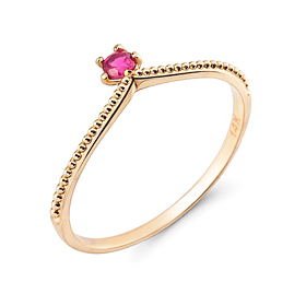 14K / 18K tiara queen ring