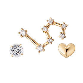 14k line constellation earring <br> (1 + 1 + 1) 3pcs