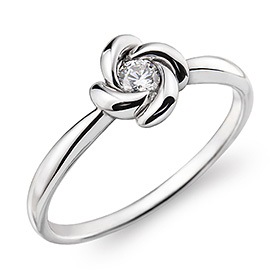 "<b><font color=""b400b0"" >[Part 1 Contemporary Emotion]</font></b> <br> 14k / 18k winter night part 1 diamond ring"