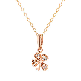 14K Lucky Clover Necklace