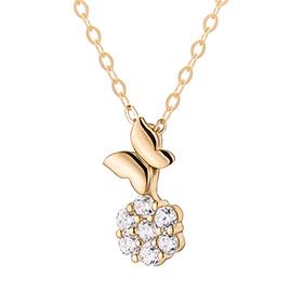 14K Butterfly Tree Necklace