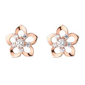14K Rose Mary Earring