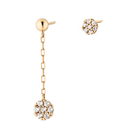 14K honey long earrings