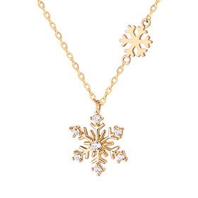 14K / 18K Winter Snow Necklace
