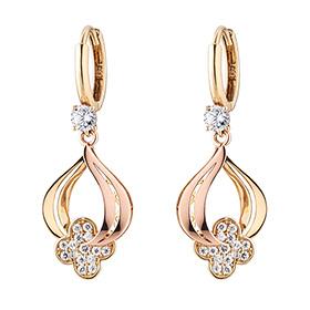 14K / 18K Royal Clover earring