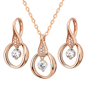 14K / 18K Circle load set [Necklace + earring]