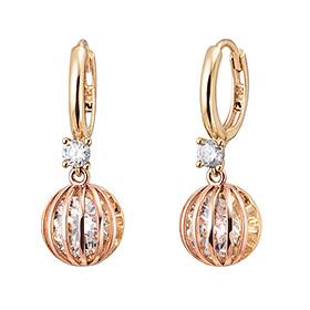 14K / 18K Magic Mirror Ball earring