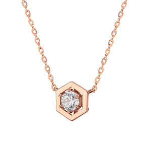 14K / 18K Hexacube Necklace