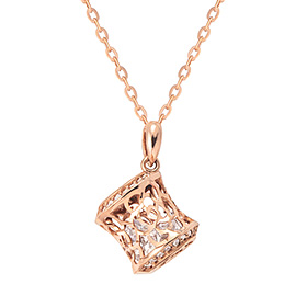 14K / 18K Rose Castle Necklace