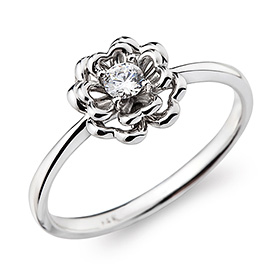 "<b><font color=""b400b0"" >[Part 1 Contemporary Emotion]</font></b> <br> 14k / 18k Flower and I Part 1 Diamond Ring"